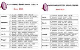 Calendario Cipolle 2019.Il Meteo Delle Cipolle Usanza Dei Nonni Lavocedelnoce
